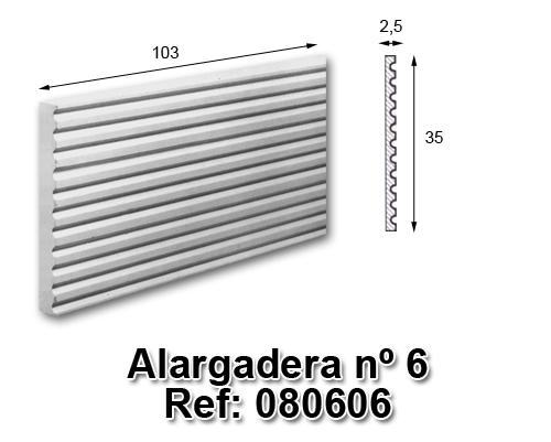 Alargadera nº6