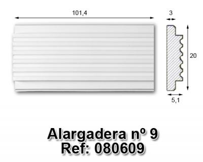 Alargadera nº9