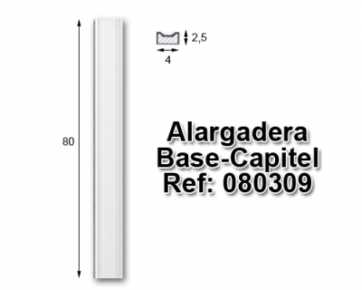 Alargadera Base-Capitel 4x80 cm