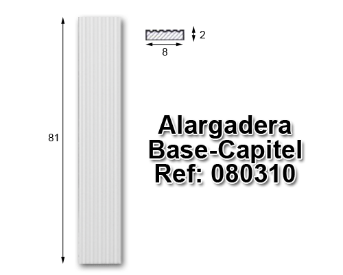Alargadera Base-Capitel 8x80 cm