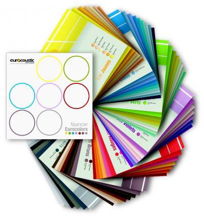 Techo acústico colores