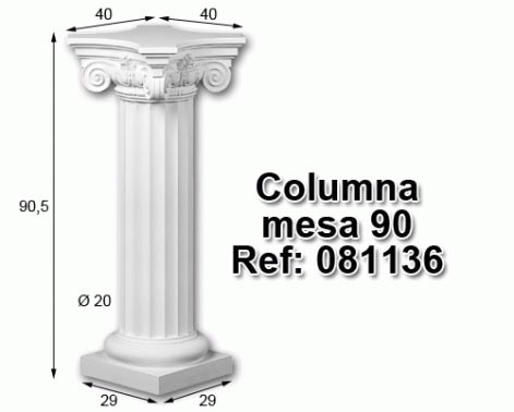 Columna mesa 90