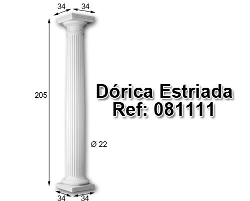 Dórica estriada 204