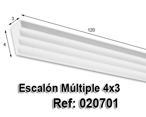 Escalón múltiple 3x4