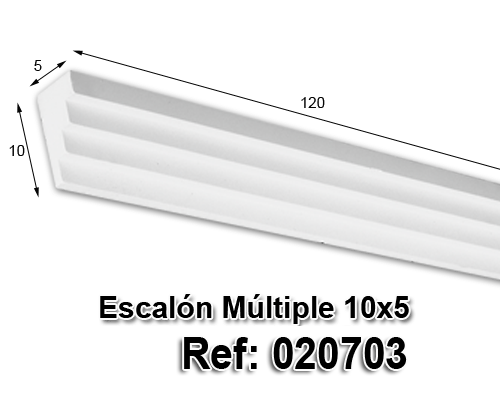 Escalón múltiple 5x10