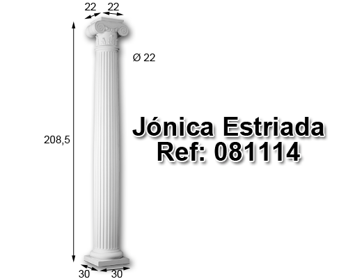 Jónica estriada 208