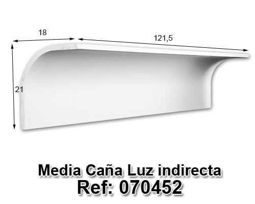 Media caña luz indirecta