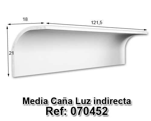 Media caña luz indirecta