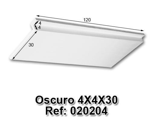 Oscuro 4x4x30