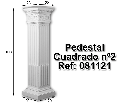 Pedestal cuadrado nº2