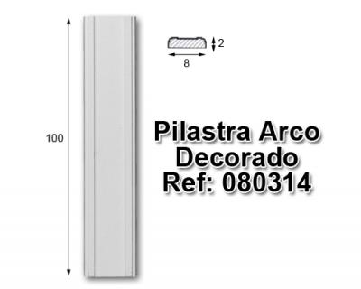 Pilastra arco decorado 8x100