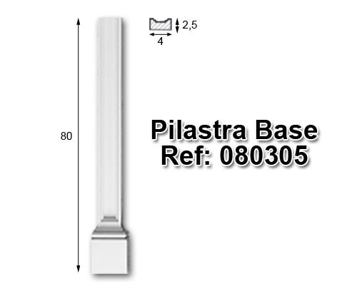 Pilastra base librería 4x80