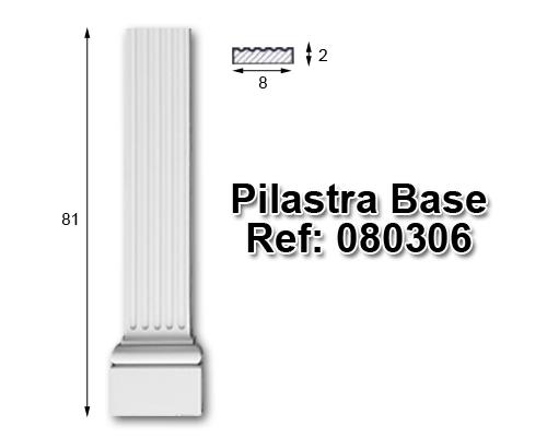 Pilastra base librería 8x80