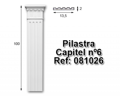 Pilastra capitel nº6