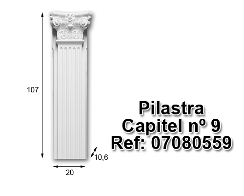 Pilastra capitel nº9