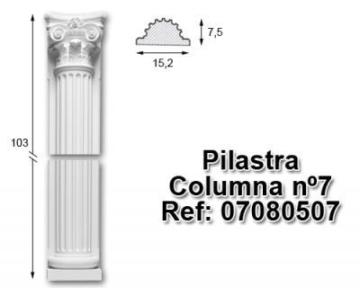Pilastra columna nº7