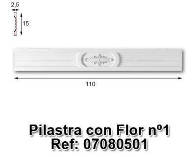 Pilastra con flor nº1