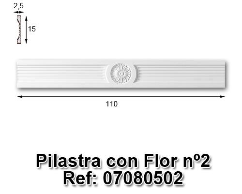 Pilastra con flor nº2
