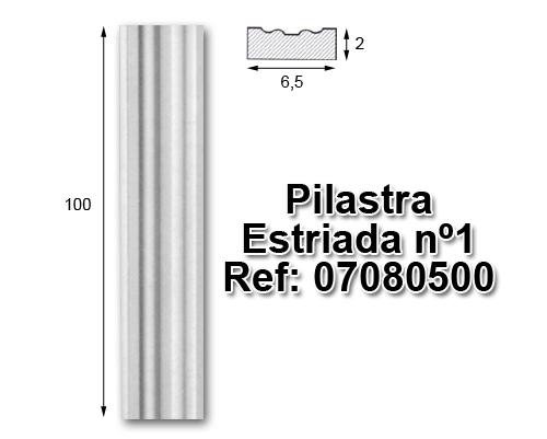 Pilastra estriada nº1